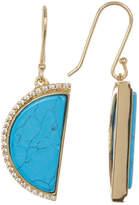 Cole Haan Turquoise Half Moon Drop Earrings