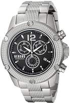 Versus By Versace Men's 'AVENTURA' Quartz Stainless Steel Casual Watch, Color:Silver-Toned (Model: SOC100015)