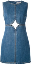 Courreges cut out detail denim dress - women - Cotton - 42
