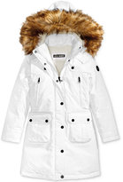 Steve Madden Hooded Parka with Faux-Fur Trim, Big Girls (7-16)