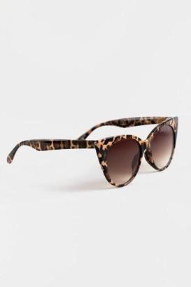 francesca's Lea Leopard Cat-Eye Sunglasses - Leopard