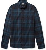 Todd Snyder Button-Down Collar Checked Cotton-Flannel Shirt