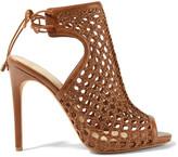Alexandre Birman Woven Leather Sandals - Tan