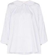 Shushu/Tong striped Peter Pan collar shirt