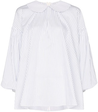 SHUSHU/TONG striped Peter Pan collar shirt