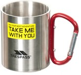 Trespass Bruski Carabiner Clip Travel Cup/Mug