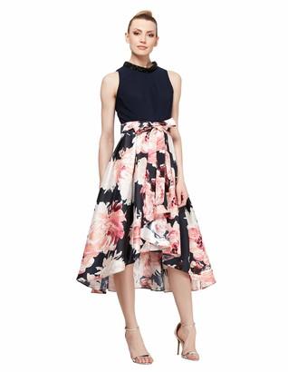 SL Fashions Women's High-Low Sleeveless Party Dress