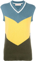 Marni cashmere sleeveless knitted top