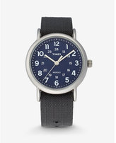 Express timex weekender blue and silver watch