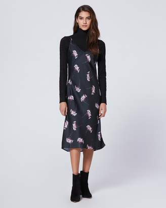Paige AJA DRESS-BLACK/ORCHID- TOSS HYDRANGEA