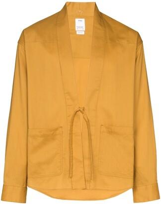 Visvim Lhamo tie front shirt