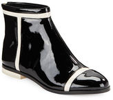 Calvin Klein Cari Patent Leather Ankle Boots