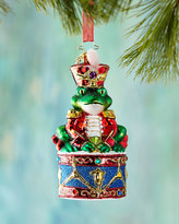 Christopher Radko Ribbit Rhythm Christmas Ornament