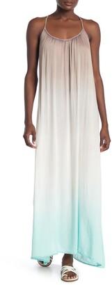 BOHO ME Strappy Back Ombre Maxi Dress