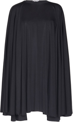 Balenciaga Draped Jersey Mini Cape Dress