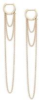 Jennifer Zeuner Jewelry Elmar Huggie Chain earrings