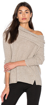 White + Warren Three Way Funnel Neck Sweater