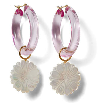 Lizzie Fortunato Spritz Pearl and Acrylic Hoops