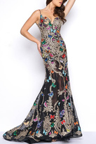 Mac Duggal Black Butterflies Gown