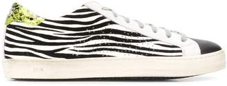 P448 low top zebra-print trainers