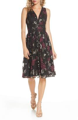 Harlyn Embroidered Fit & Flare Cocktail Dress
