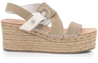 Rag & Bone August Suede Wedge Platform Espadrille Sandals