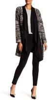 Bobeau Dries Textured Microsuede Drape Jacket