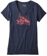 Patagonia Women's Flying Fish Rapids Cotton/Poly V-Neck T-Shirt