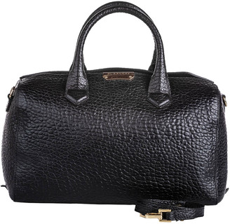 Burberry Black Pebbled Leather Satchel