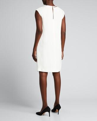 Victoria Beckham Solid Sleeveless Shift Dress w/ Chain Detail
