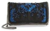 Stella McCartney 'Mini Falabella' Embroidered Crossbody Bag - Black