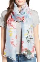 Nordstrom Women's Floral Print Silk Scarf