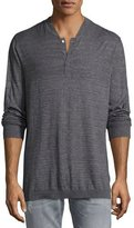 Robert Graham Tripp Heather Henley T-Shirt, Charcoal