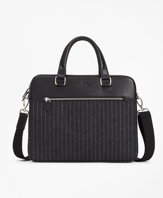 Brooks Brothers Wool Stripe Briefcase
