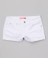 YMI Jeanswear White Twill Shorts