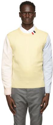 Thom Browne Multicolor Merino RWB Tab Relaxed-Fit Sweater
