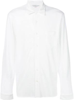 Sunspel Long Sleeve Pique Shirt