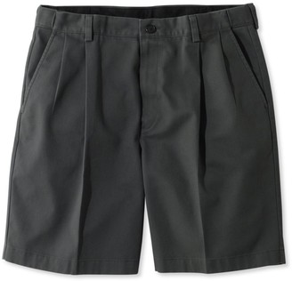 "L.L. Bean L.L.Bean Men's Wrinkle-Free Double LA Chino Shorts, Natural Fit Pleated Hidden Comfort 8"" Inseam"