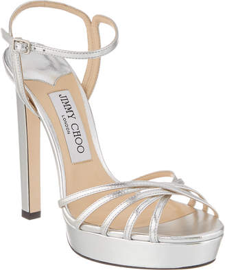 Jimmy Choo Lilah 130 Strappy Leather Sandal