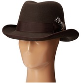 Stacy Adams Homburg Wool Felt Hat w/ Grograin Band