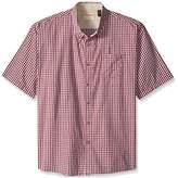 Wrangler Men's Big and Tall Authentics Short Sleeve Classic Plaid Shirt