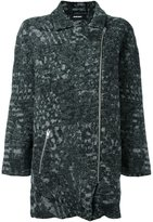 Diesel zipped coat - women - Wool/Cotton - XXS