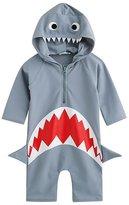WANTU Swimsuit WANTU Boys Girls Shark Swimsuit Sun Protective Rash Guard One-piece (M)
