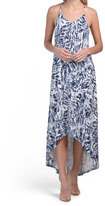 Strappy Hi-lo Printed Maxi Dress