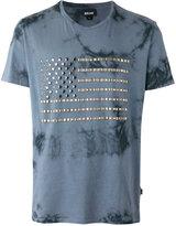 Just Cavalli studded flag T-shirt - men - Cotton/Metal (Other) - S