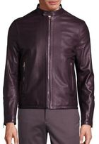 Paul Smith Sheep Leather Zip-Front Jacket
