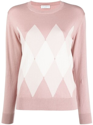 Ballantyne Diamond-Pattern Knit Jumper