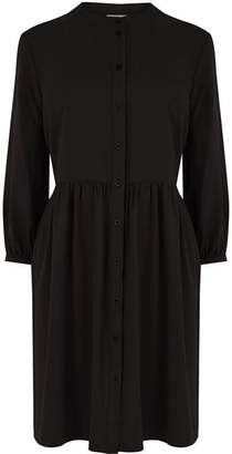 Warehouse Boxy Collarless Shirt Dress
