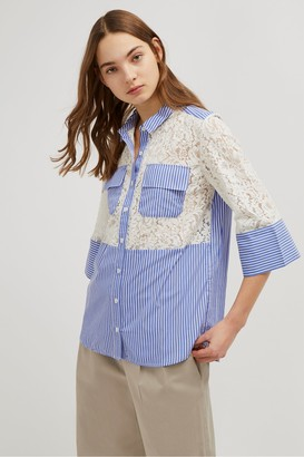 French Connection Adena Lace Mix Shirt