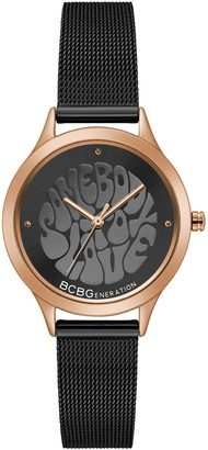 BCBGeneration Women's Black Mesh Watch